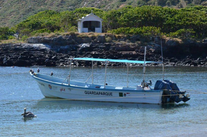 a park ranger's boat, guardaparque, isla isabel, mexico