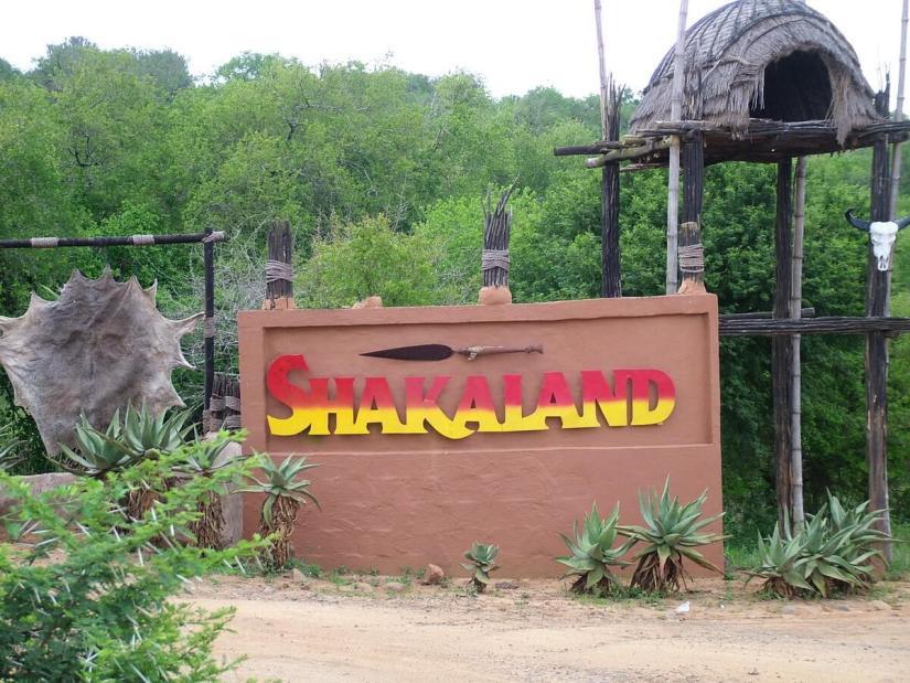 sign for shakaland, kwazulu-natal, south africa