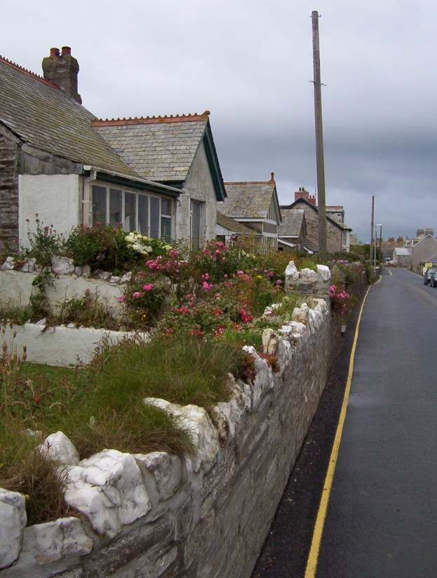 a street scene, tintagel, cornwall, england