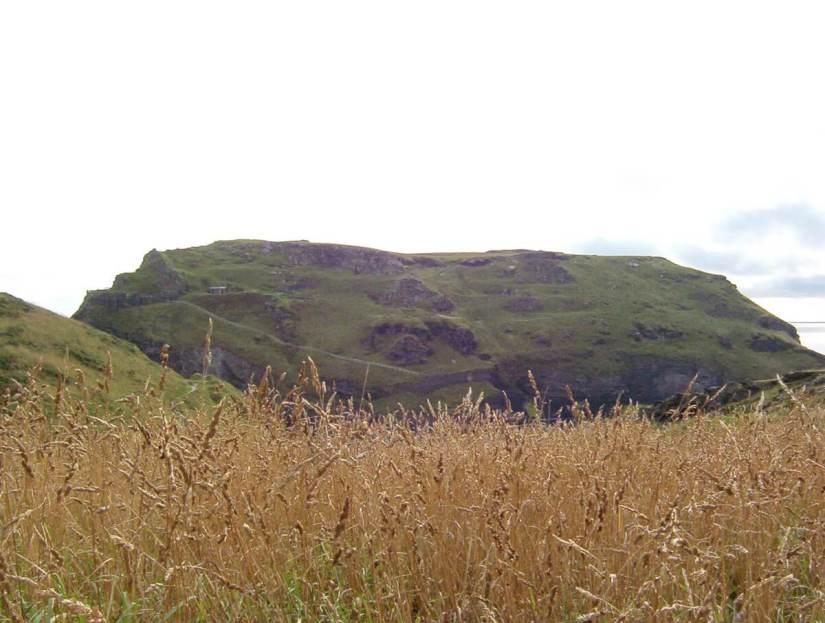 headland, tintagel castle, cornwall, england