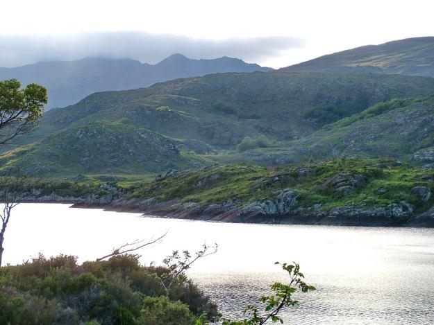 dusk over upper lake, killarney national park, ireland