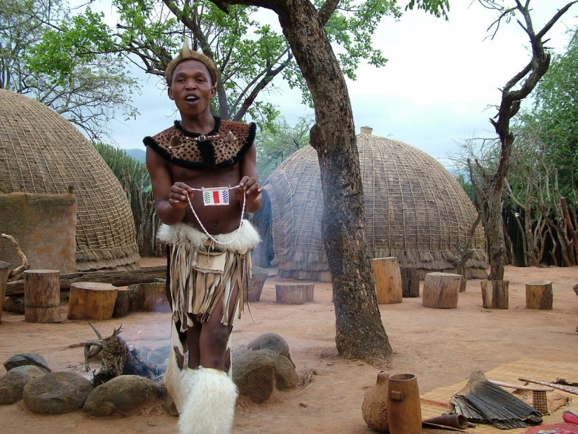 a zulu interpreter, shakaland, kwazulu-natal, south africa