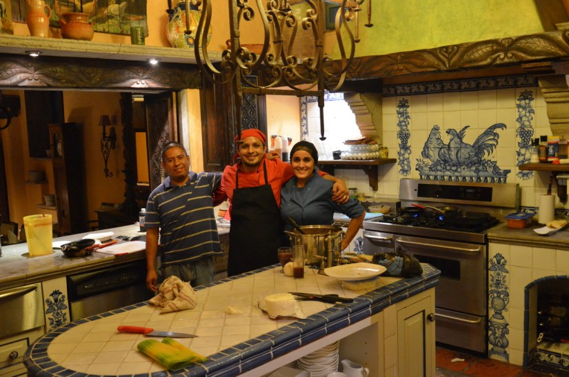 chef and kitchen staff, hacienda del lago boutique hotel, ajijic, lake chapala, mexico