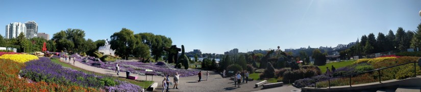 a panorama of mosaiculture 2018, gatineau, quebec, canada