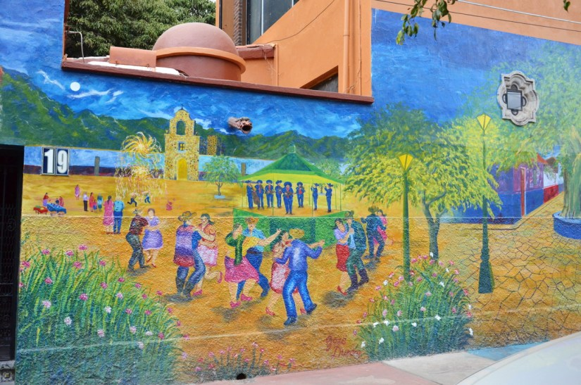 wall mural, ajijic, lake chapala, mexico