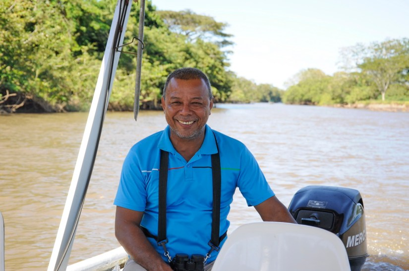 tour guide Ernesto, river frio, cano negro wildlife refuge, costa rica