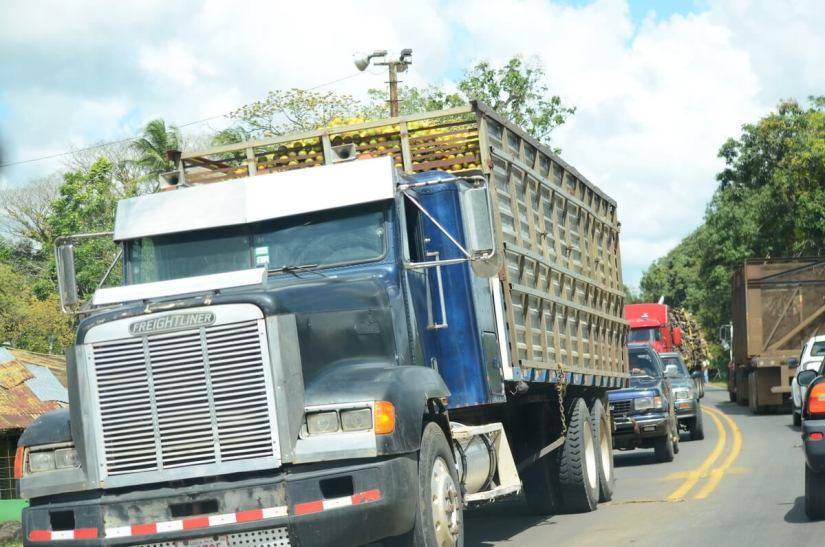truck loaded with fruit, near la fortuna, costa rica