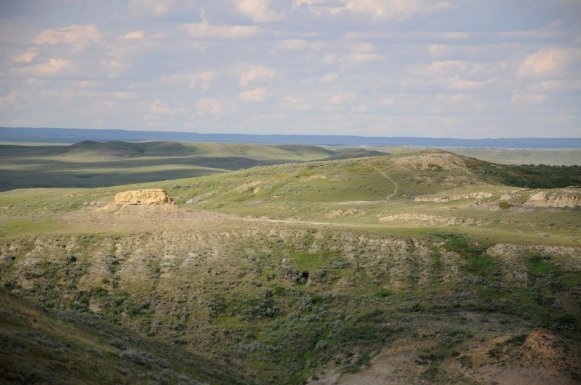 a butte in a coulee, valley of 1000 devils route, grasslands national park east block, saskatchewan