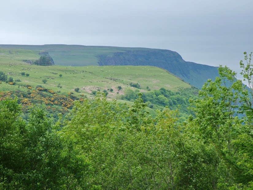 escarpments of antrim plateau, glenariff forest park, northern ireland