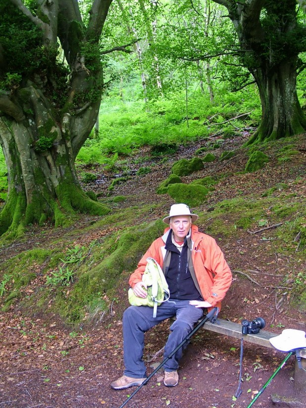 bob on a bench, glenariff forest park, northern ireland