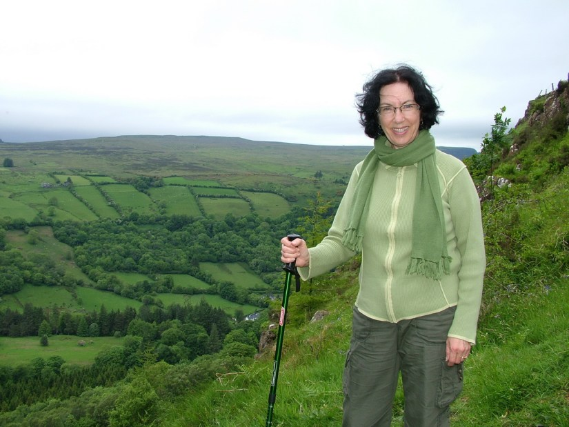 jean overlooking ladder farms, glenariff forest park, northern ireland
