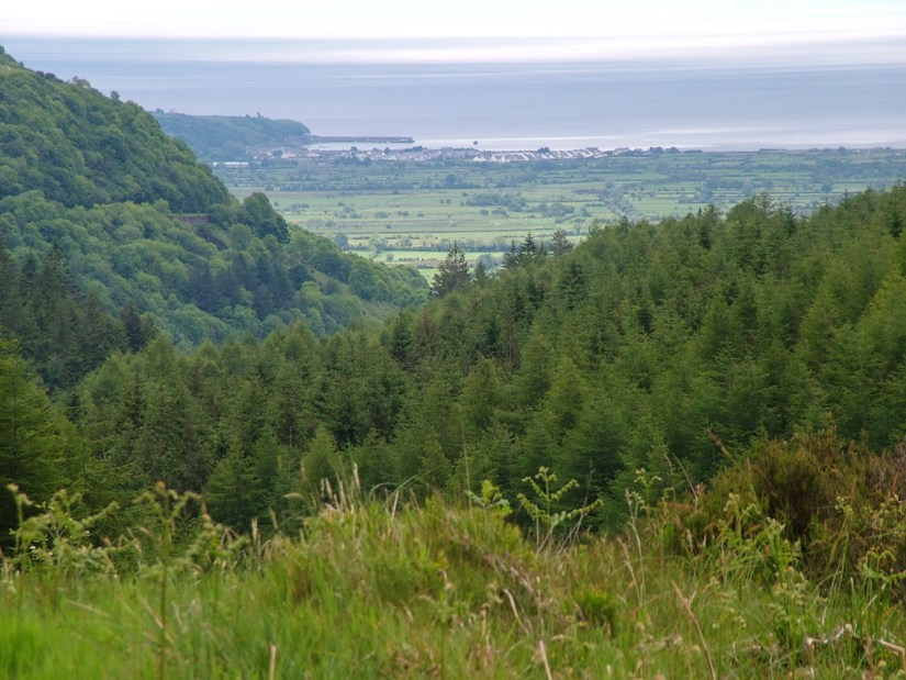 a view of waterfoot and the sea of moyle, glenariff forest park, northern ireland