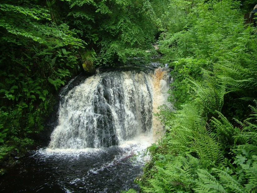 a waterfalls, waterfalls trail, glenariff forest park, northern ireland