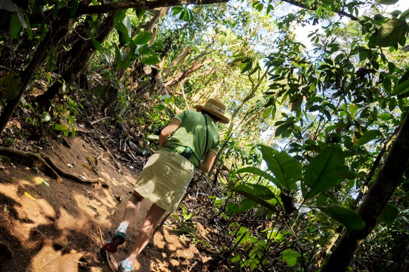 jean on the trail, ecocentro danaus, la fortuna, costa rica
