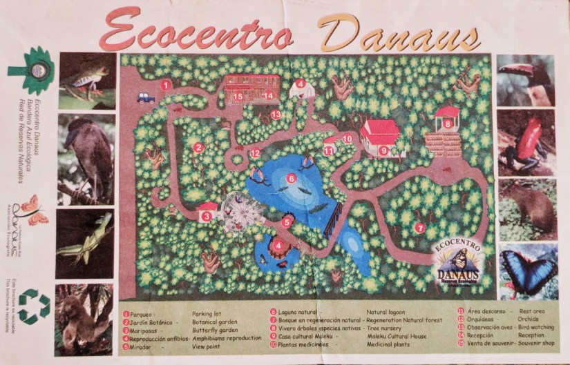 ecocentro danaus trail map, la fortuna, costa rica