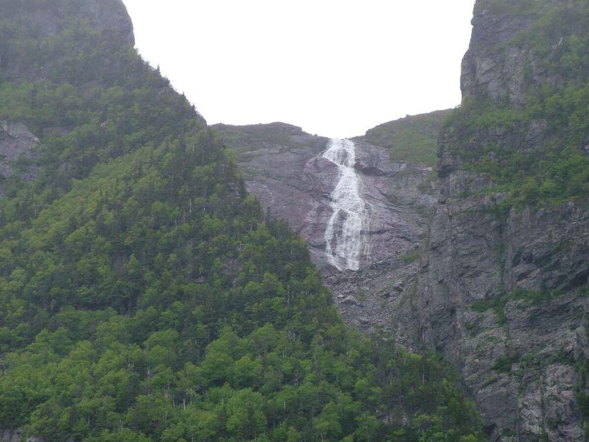 waterfalls, western brook pond, gros morne national park, newfoundland, canada