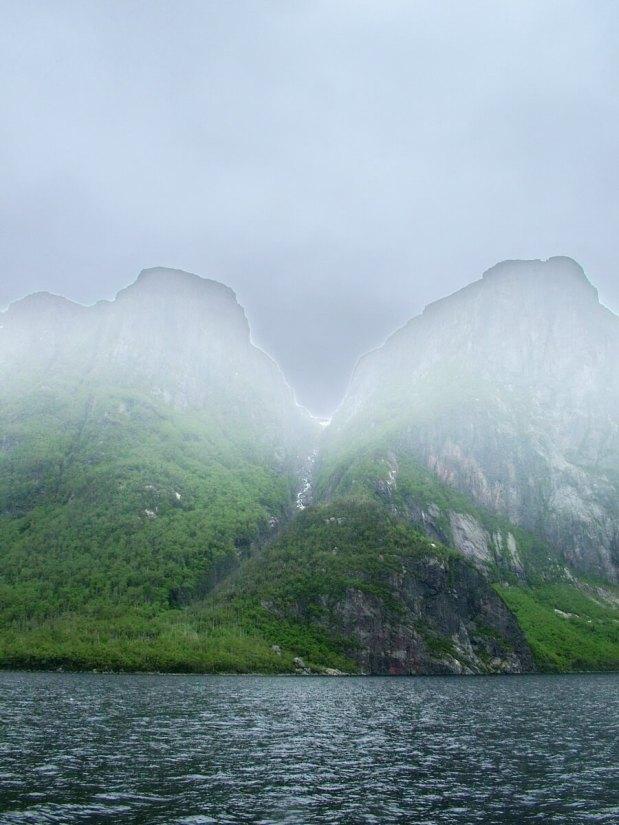 misty peaks, western brook pond, gros morne national park, newfoundland, canada