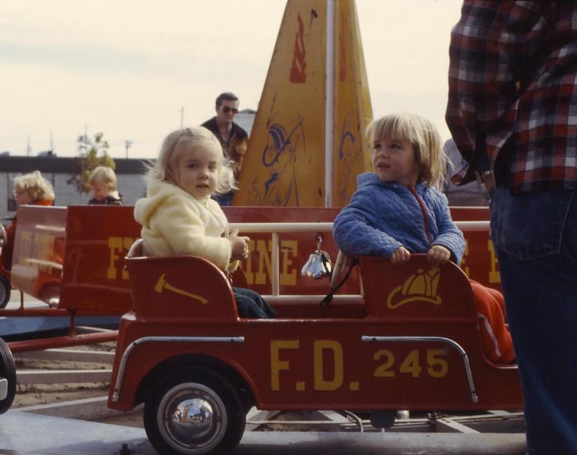 fire truck kiddie ride, markham fair, 1982