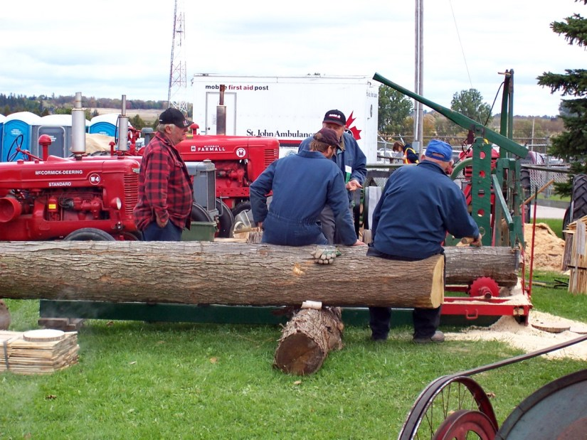 antique log cutter, markham fair, markham, ontario