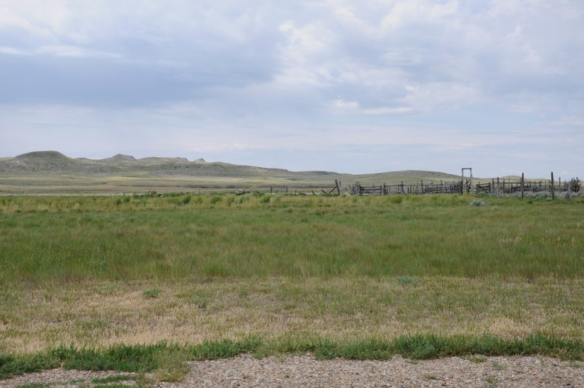 a corral, grasslands national park, saskatchewan