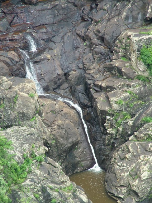 plung pool at lehr's falls, oribi gorge, south africa