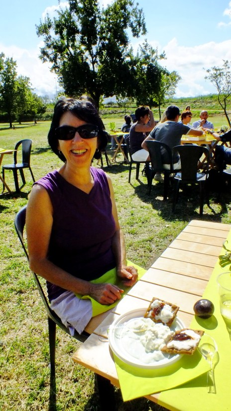 jean at a scampagnata or country picnic, sant'alberto, italy