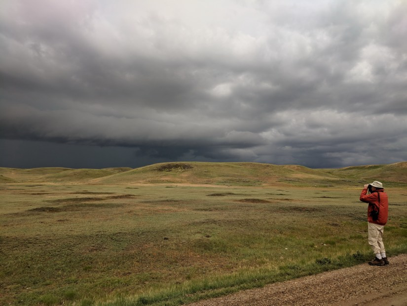 storm clouds over grasslands national park, saskatchewan