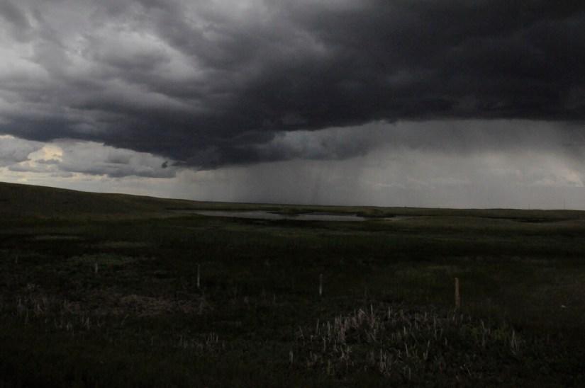 rainstorm over val marie, saskatchewan