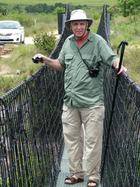 bob on the suspension bridge, oribi gorge, south africa