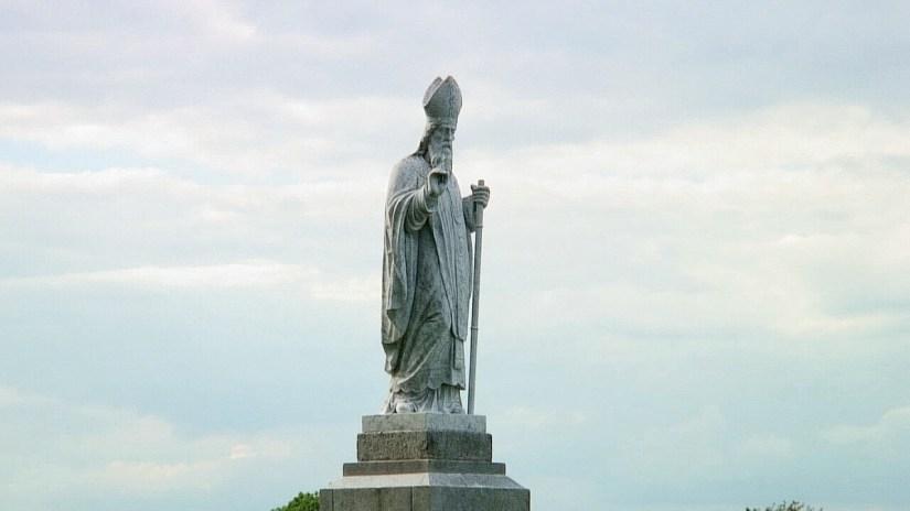 statue of st. patrick, the hill of tara, county meath, ireland