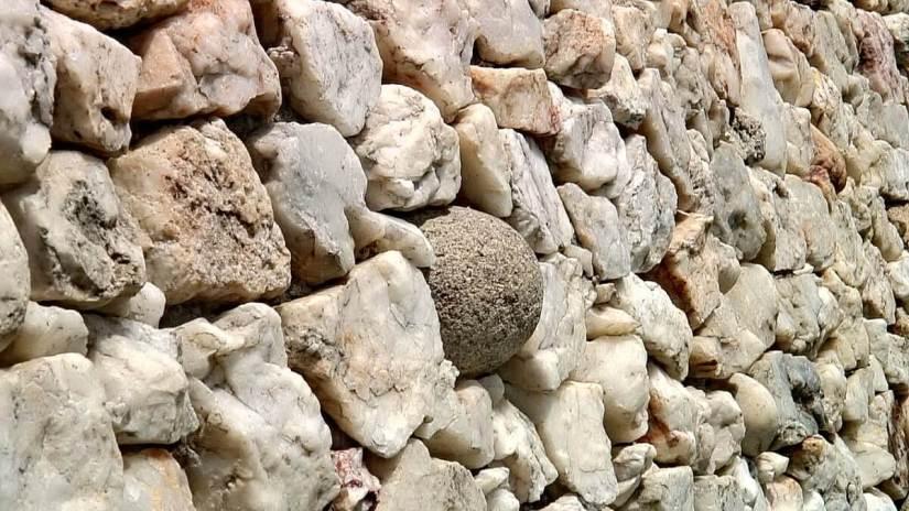 white granite cobblestones, newgrange, county meath, ireland