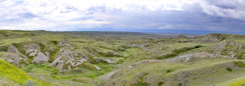 panoramic view from Borderlands Lookout, Grasslands National Park, Saskatchewan