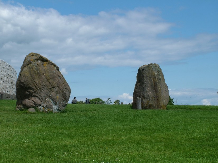 standing stones, newgrange, county meath, ireland