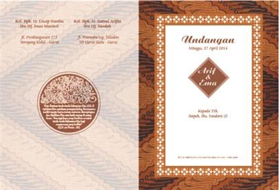 100 Frame Undangan 100 Frame Undangan Batik Oriental Wedding