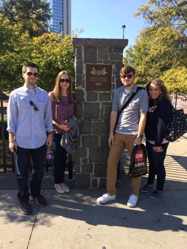 MMG Founding Board Members touring Atlanta's Centennial Olympic Park.