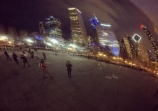 While in Chicago for work, Juliette checked out 'the bean'.
