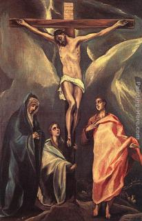 El Greco Christ on the Cross with the Two Maries and St John painting |  framed paintings for sale
