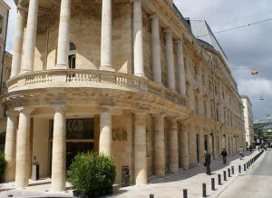 Classical ancient building CGR cinema bordeaux france