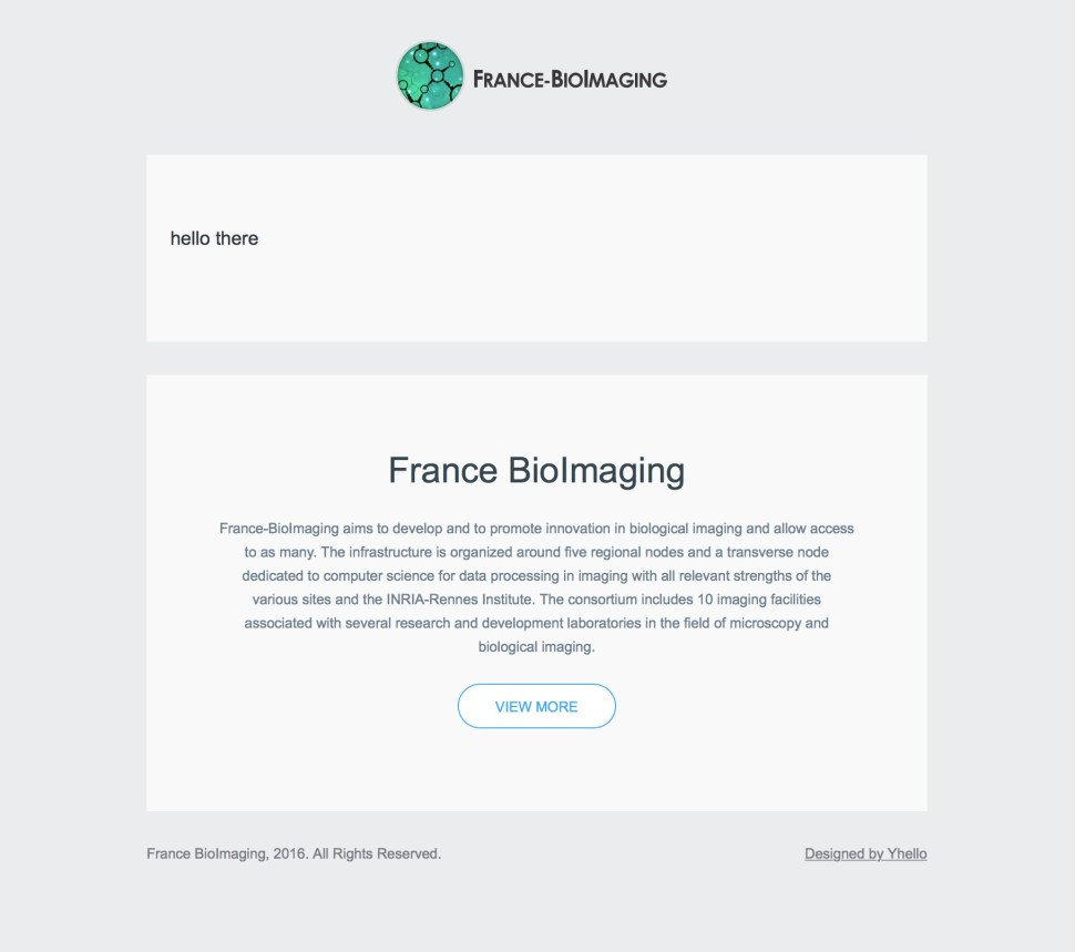 New Html Email Template France Bioimaging
