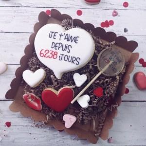 sablé décoré saint valentin