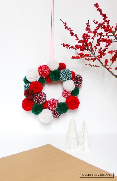 Couronne Pompons Noël