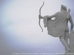 Statue d'Apollon, reprend l'Apollon du Belvédère au Vatican