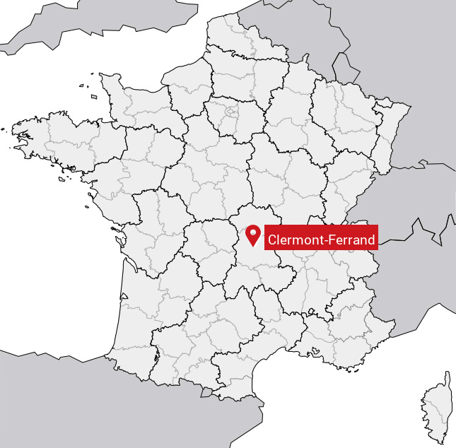 Image result for clermont ferrand carte
