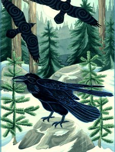winter raven by francene hart