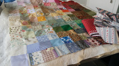 Violet's quilt in progress