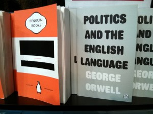 1984, Politics and the English Language, vintage Orwell reissues from Random Penguin, Foyles, St Pancras, Camden, London, UK