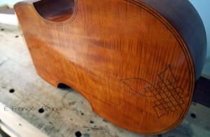 Rose tenor viol back eduardo frances bruno luthier