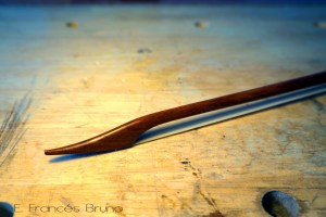 Eduardo frances bruno luthier baroque viola bow long sonata head