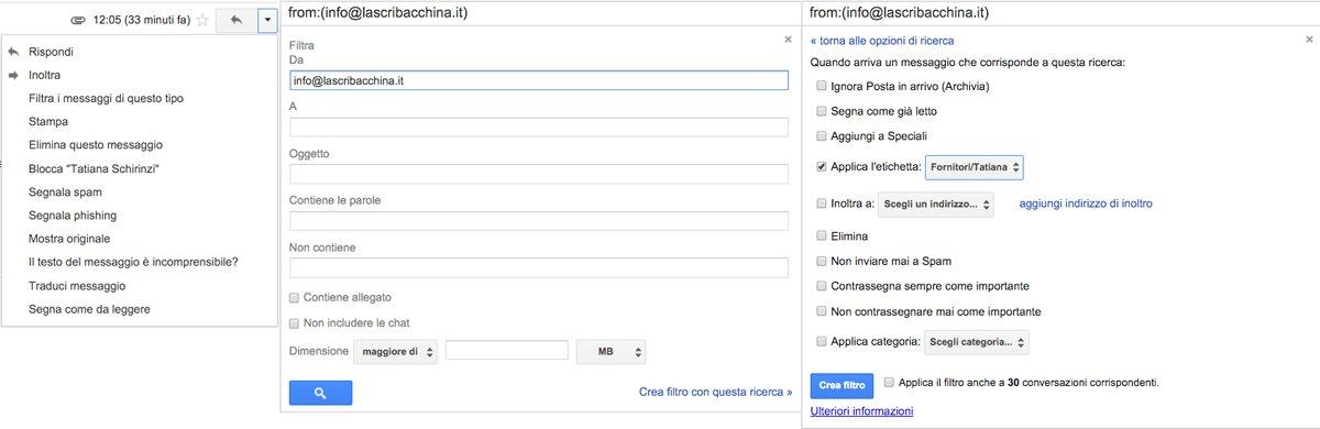 Come creare un filtro di Gmail