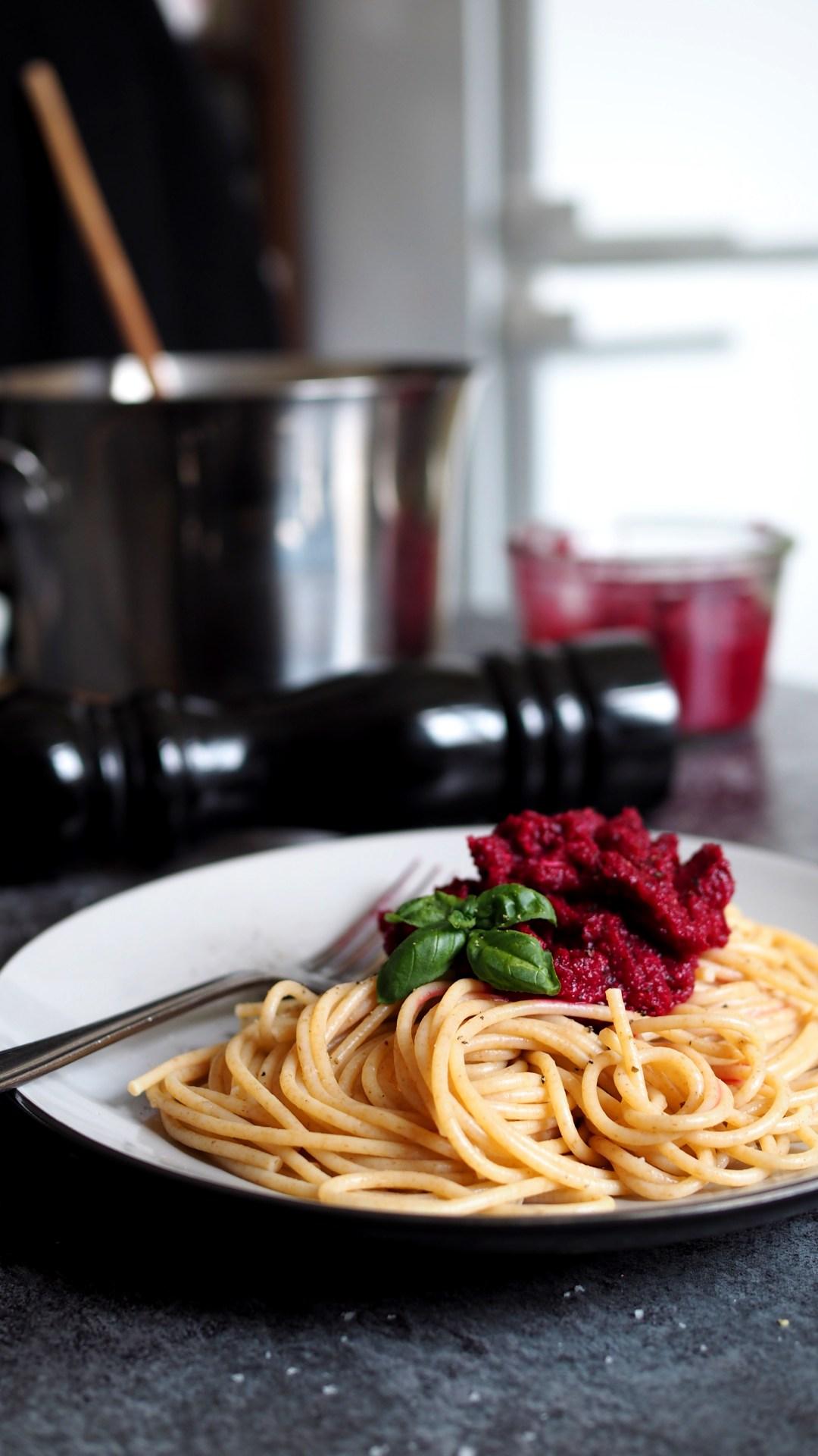 Rote Beete Pesto vegan